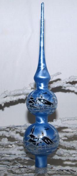 Eisblau - Spitze ca. 30 cm Kugeln 5 cm und 6 cm