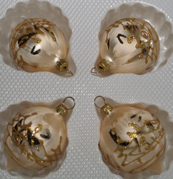 Golden Dreams - kleine Ovalkugel 4fach