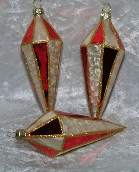 Tradition - Zapfenform eckig 3erSet
