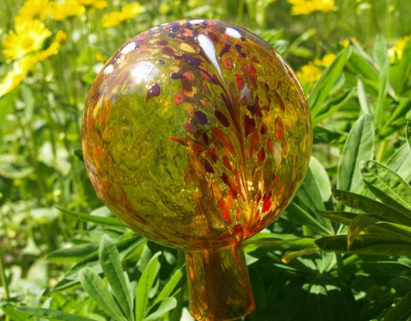 Gartenkugel gold 15cm