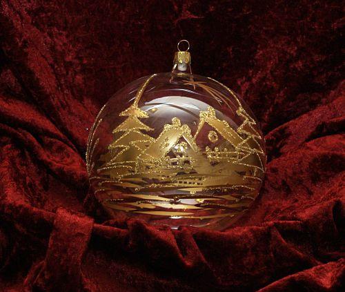 Dekorationskugel Ø 14 cm kristall/gold
