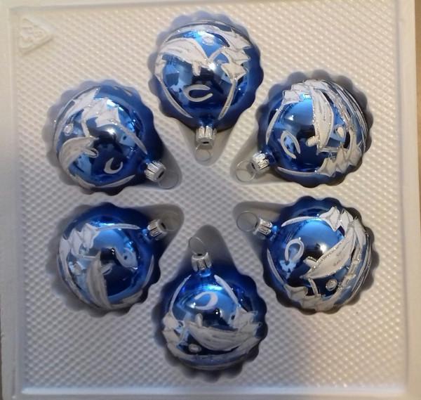 königsblau- 5cm Kugel 6fach