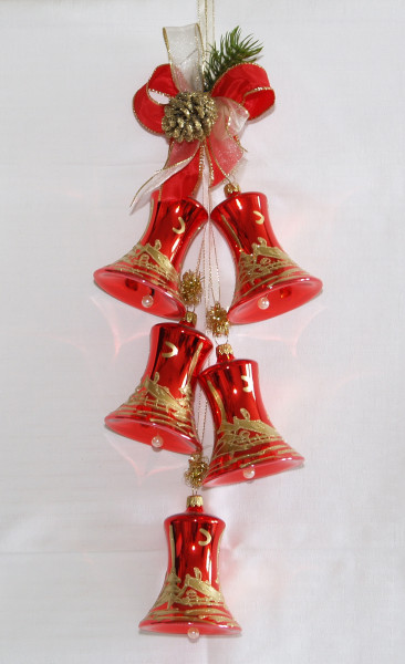 """""""Weihnachtszeit"""" 7cm Glocke Adventsgehänge"""