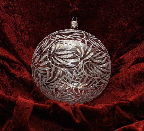 Dekorationskugel Ø 14 cm kristall/elegance